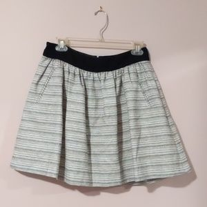 Banana Republic Monogram flare skirt